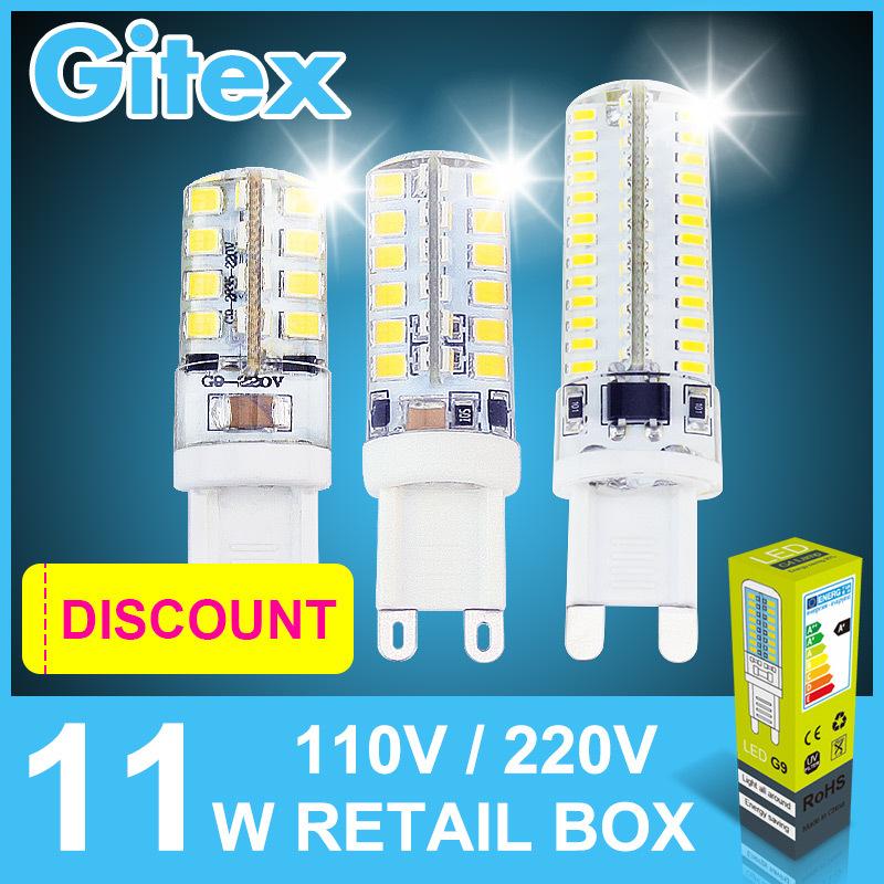 Гаджет  10Pcs Led G9 3014 5W 6W 7W 9W 10W 11W 12W 15W 18W 20W 2835 SMD Led G9 220V Candle Led G9 Lamp Crystal Silicone Candle light Bulb None Свет и освещение