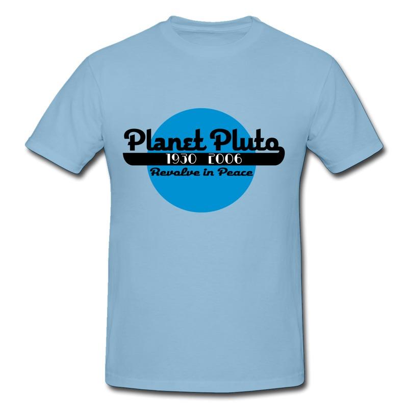 Printed Casual Man T Shirt pluto Fun Logos Shirts for Boys ...