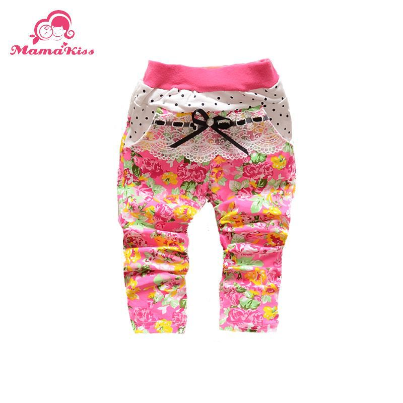 Promotion 2015 New Style Korean baby girls child with printing dot knit Baby pants Leggings B106(China (Mainland))