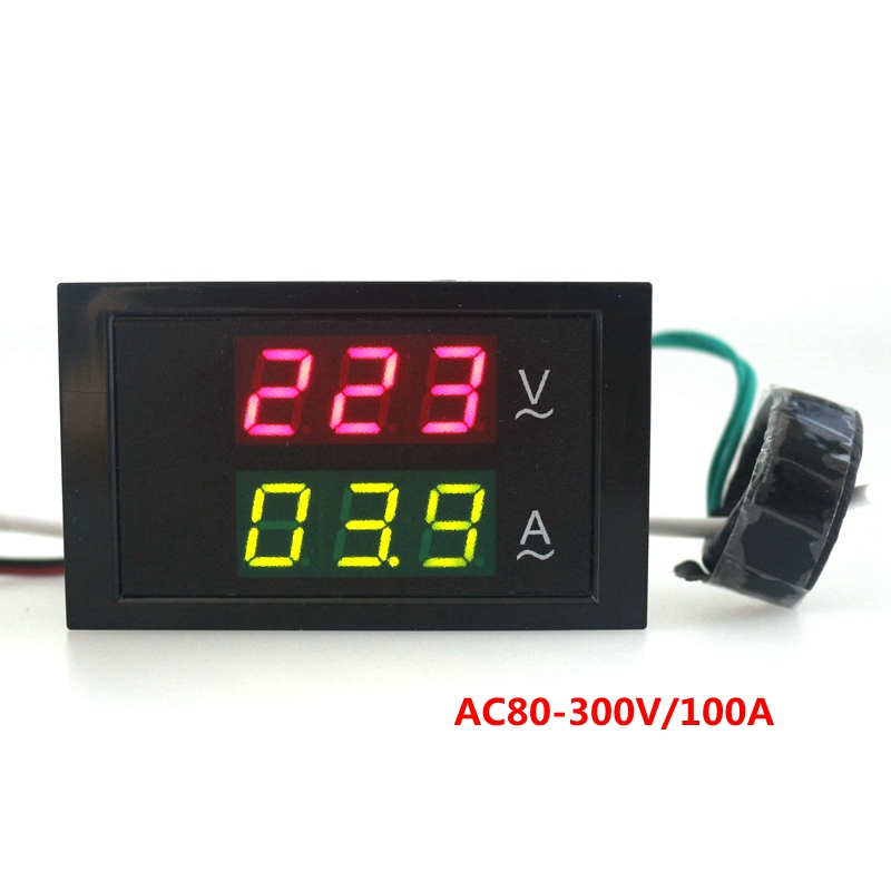 Ac Amp Meter : Ac v a led volt amp meter voltage