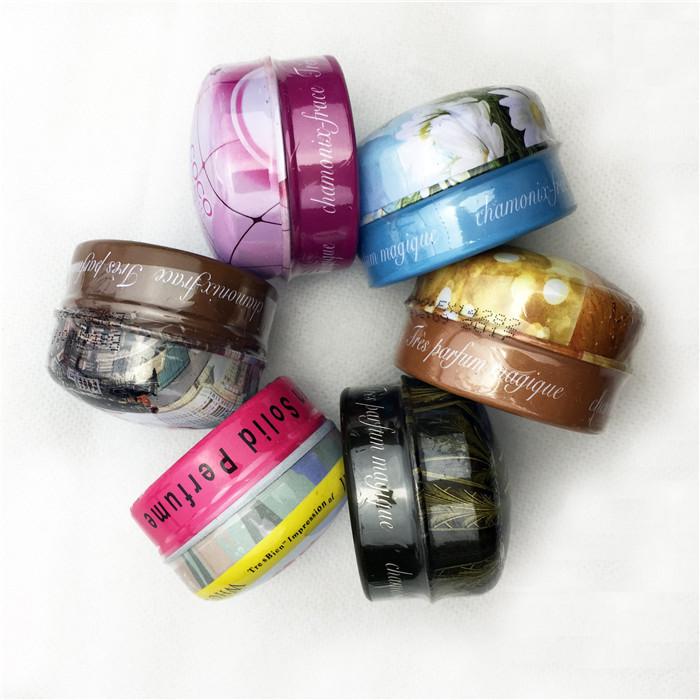 6Pcs Brand Woman Lady solid perfume fragrance perfumes &fragrances originals scent perfumes free shipping(China (Mainland))