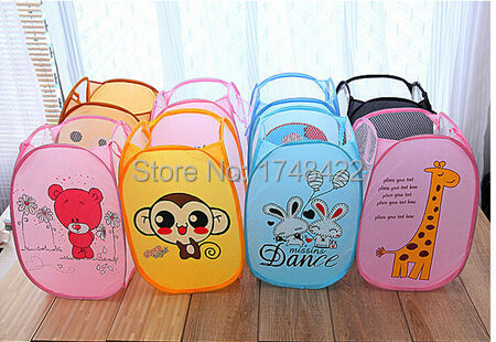 Fashionable Children's Baby Toys Storage Box Folding Laundry Basket Baby Lovely Bag High Capacity Stroller Accessories(China (Mainland))