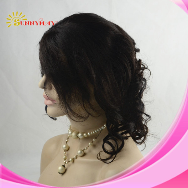 2014 New Arrival Sunnymay  Human Hair Fashion Curly 100% Indian Remy Hair Lace Front Wig.