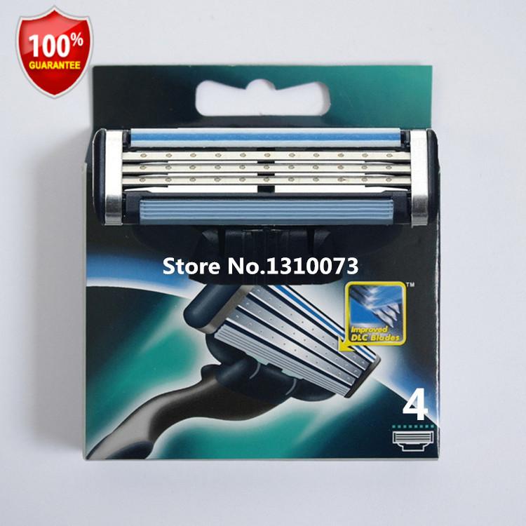 4pcs/lot Quality Grade AAA+ brand shaving razor blade,mache 3 razor blades for men Standard for RU&Euro&US(China (Mainland))