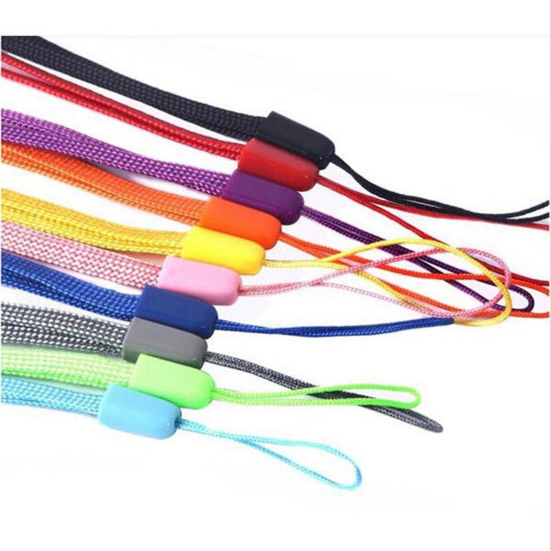 100 Pcs Black Cell Phone Lanyard Cords Strap Lariat Mobile Fashion Universal Detachable lanyard for phone neck strap(China (Mainland))