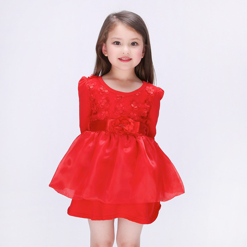 2016 Spring Girl Dress Casual Cotton Kids Clothes Princess Party Children Dresses Clothing Vetement Robe Fille Enfant Mariage(China (Mainland))