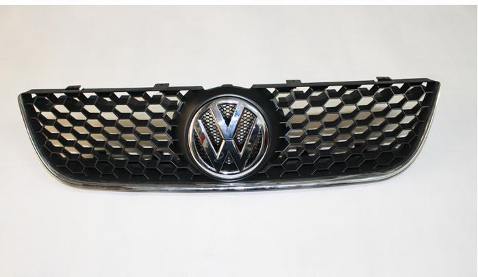 Sporty Honey Comb Front Grille With Chrome GTI Edge For VW Polo 9N3<br><br>Aliexpress