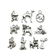 Buy 10pcs Mixed Tibetan Silver Plated Animals Dogs Charms Pendants Jewelry Making DIY Charm Handmade Crafts for $1.10 in AliExpress store