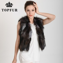 Low Low Low!!! TF35 Free shipping to EMS Lady Fashion Genuine Fox fur vest/Waistcoat Style Newest In Stock Hot selling(China (Mainland))