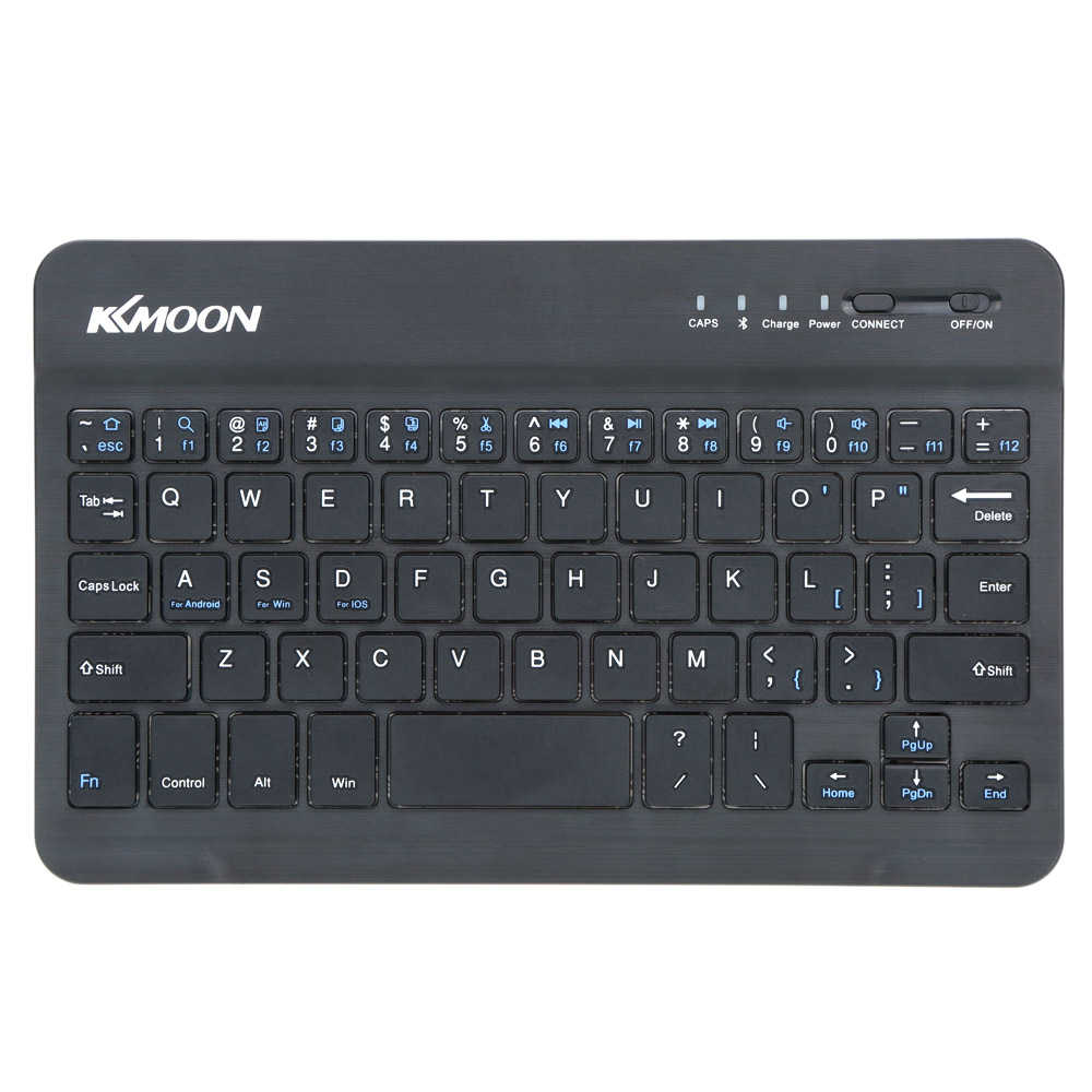 KKMOON 59 Keys Wireless Keyboard Ultra Slim Thin Mini Bluetooth 3.0 Keyboard for iOS for Windows Android Tablet PC Smartphone(China (Mainland))