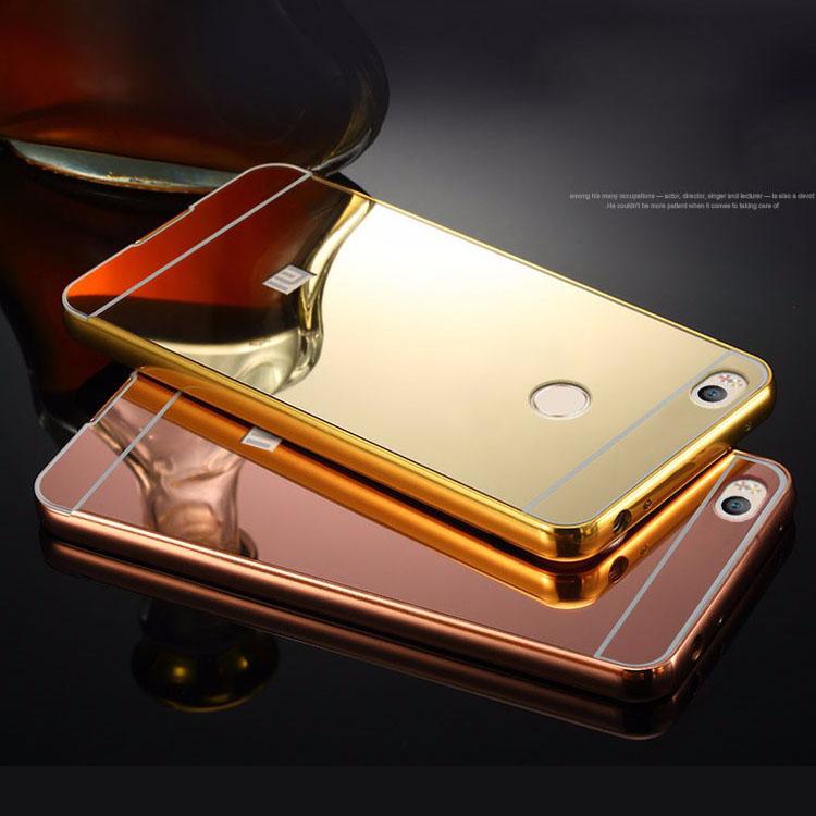 Xiaomi Mi4s Mirror Acrylic Back Cover & Aluminum Metal Frame Bumper Phone Shell Case For 5 inch Xiaomi Mi 4s Mi4 s M4S Housing(China (Mainland))