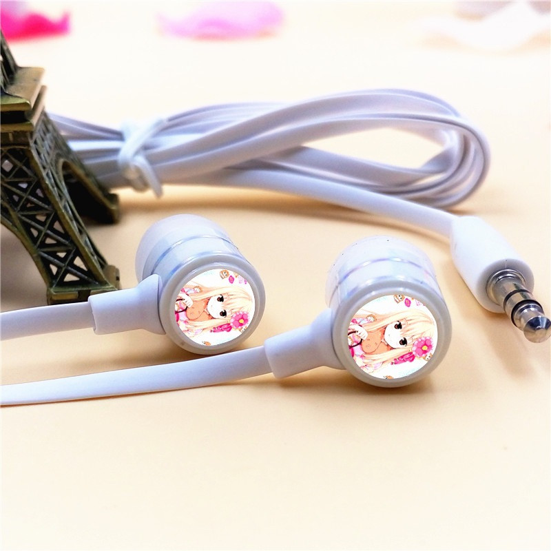 Anime Himouto Umaru-chan In-ear Earphone 3.5mm Wired Stereo Earbuds Microphone Phone Music Headset for Iphone Samsung Xiaomi MP3