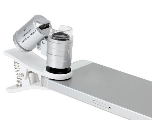 60X Microscope with LED UV Lights Mobile Phone Lens For HTC
