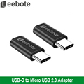 Leebote USB C Adapter Data and Sync USB 3 1 Type C to Micro USB Charger