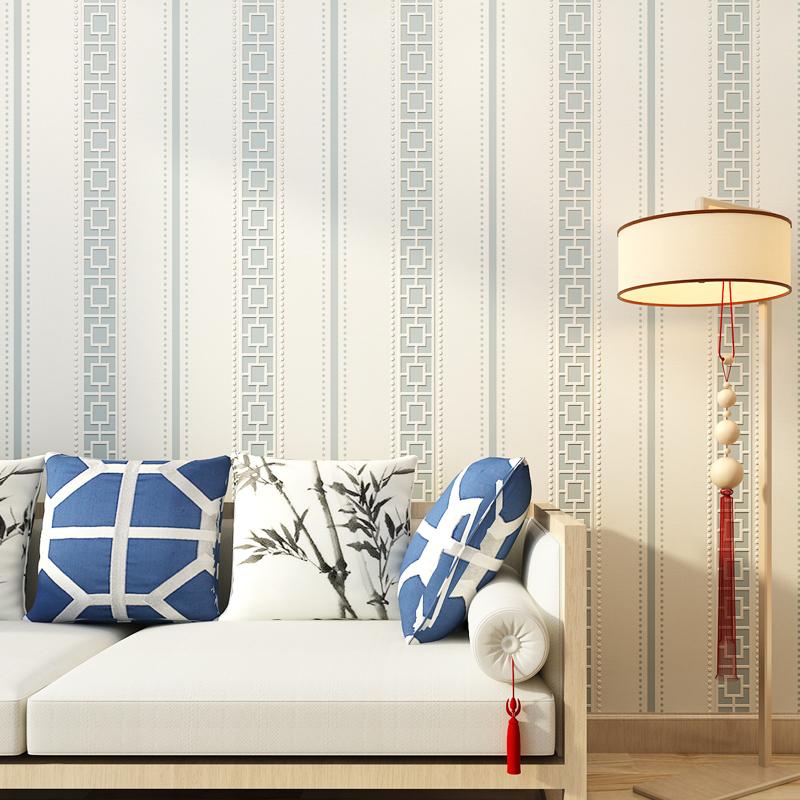 Compra rejilla wallpaper online al por mayor de china - Papel pintado rayas verticales ...