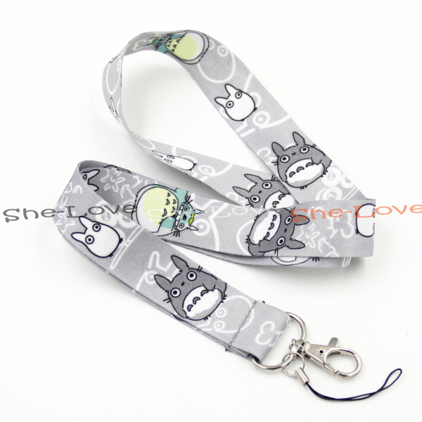 1X Totoro Grey Nylon Neck Strap Lanyard Cell Phone Camera ID Card Gifts(China (Mainland))