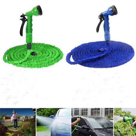 New Functional 100ft Green Snake Flexible Garden Water