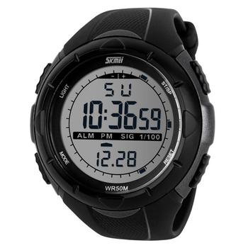 Мужские брендовые спортивные часы SKMEI коллекции 2014. Электронные часы со светодиодной подсветкой. Наручные часы для спорта и отдыха. Часы в милитари стиле