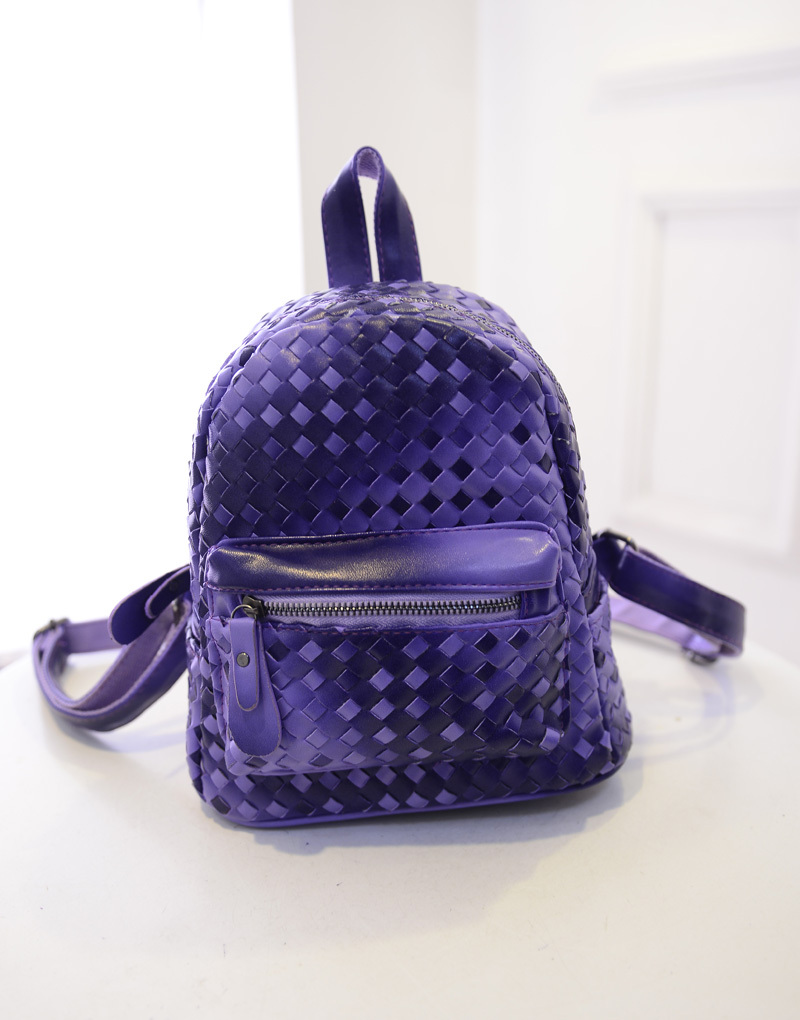 2015 fashion woven shoulders bag Korean female college wind tide mini backpack leisure travel small optional four-color - quality goods women bags store