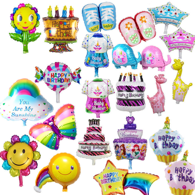 Kids birthday balloons Mini Crown number Balloons Boy Happy birthday candy princess balloon 40*30cm(not include the stander)(China (Mainland))