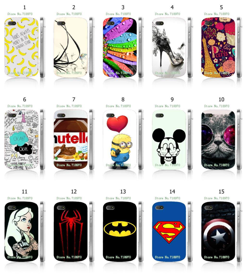 spider-man batnman superman 15designs hybrid retail 15designs white mobile phone hard cover cases for blackberry Q10 free ship(China (Mainland))