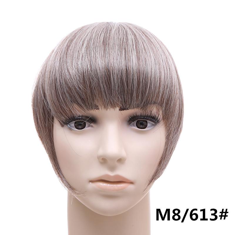 Jeedou короткий передний аккуратный челка клип короткая заколка для волос прямые 8613.1_