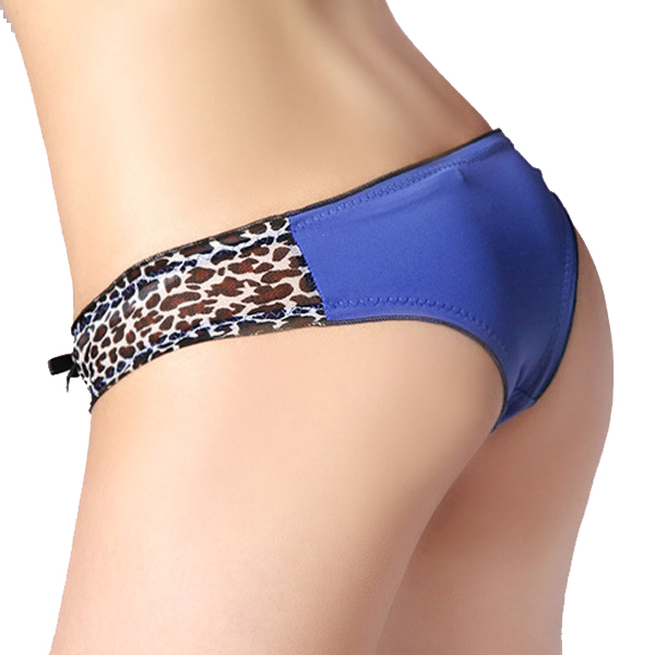Гаджет  2015 HOT Lace leopard print Women Underwear Black color Cotton Underpants Lady Sexy Briefs Woman pantie 1 piece Free shipping None Одежда и аксессуары