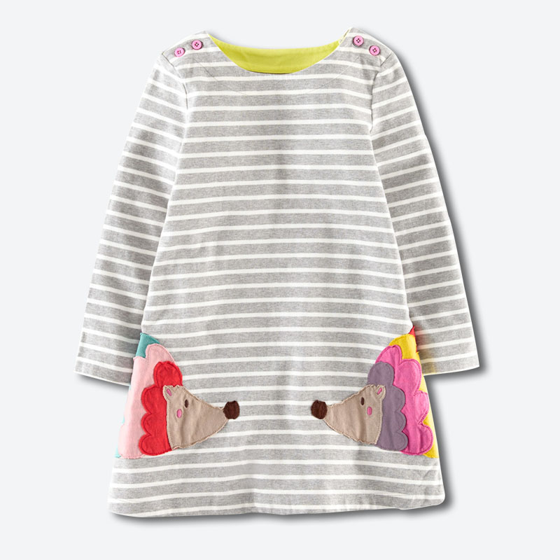 Autumn baby girls dresses,2-7 years long-sleeved dress,cotton kids casual clothes,2015 next style children clothing - England apparel store