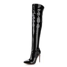 Doratasia 2019 Plus Kích Thước 48 Thương Hiệu Mũi Nhọn Nữ Giày Nữ Giày Mỏng Sexy Cao Cấp Đảng Giày Người Phụ Nữ Mùa Đông Ovet đầu Gối Giày(China)