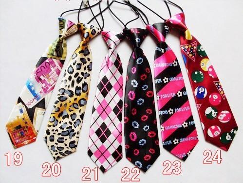 10pcs/lot Children Ties necktie choker cravat boys girls ties Baby Scarf neckwear 30 Designs Colors can choose(China (Mainland))