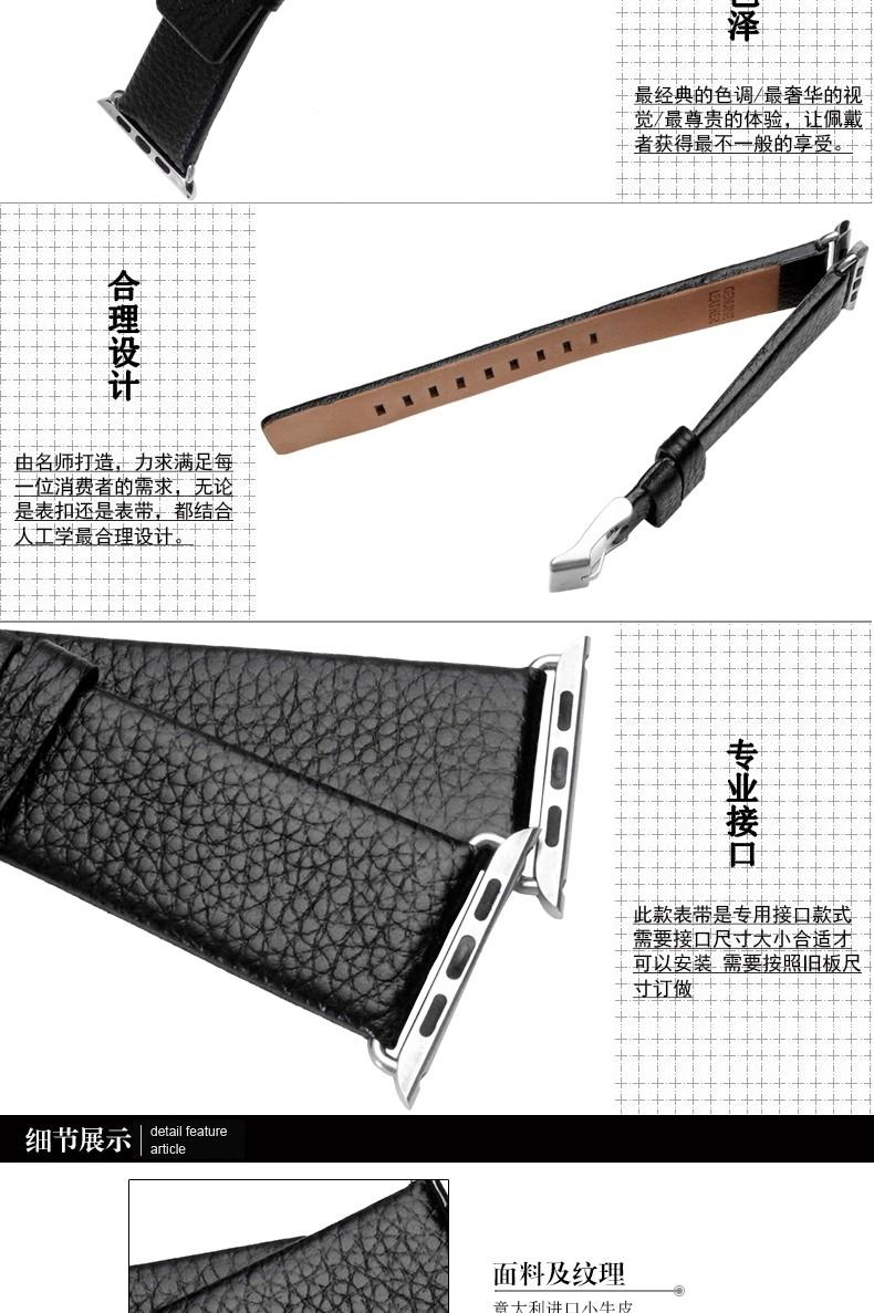 38 | 42 мм высокое качество натуральная кожа ремешок с пряжкой из нержавеющей стали