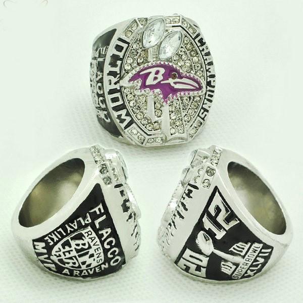 2012 Baltimore Ravens Super Bowl Replica Championship Ring For Men Big Ring Size 11 2015 New