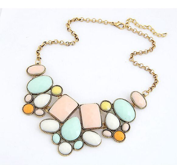 Star Jewelry New 5 Colors VinatgeJewelry Wholesale Gem Choker Charm Statement Retro Necklaces Pendants Gift
