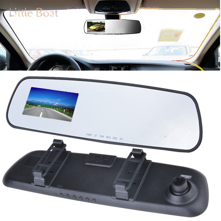 "Cheapest 720P Car DVR 2.7"" LCD Car Recorder Video Rearview Mirror Camera With G-sensor 12(China (Mainland))"