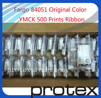 Free shipping----Fargo HDP 5000 color 84051 YMCK ribbon,