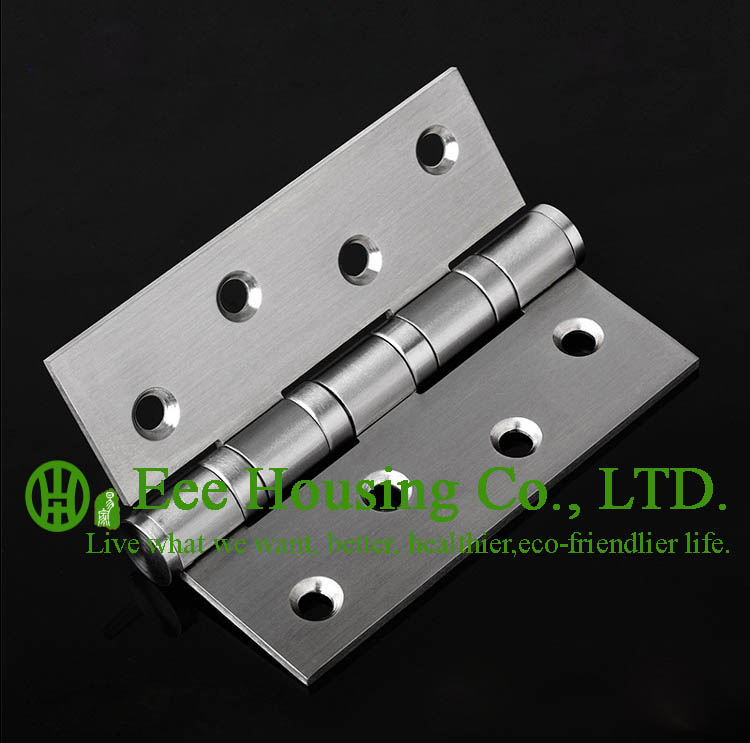 Door hinges, stainless steel Hinges for Interior Wood door,ball bearing hinge stainless steel,no noise,Free Shipping(China (Mainland))