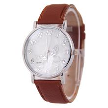 Creative 2015 Best Gift Watches For Women Girls Embossed Band Butterfly Pattern Ladies Quartz Watch Elegant