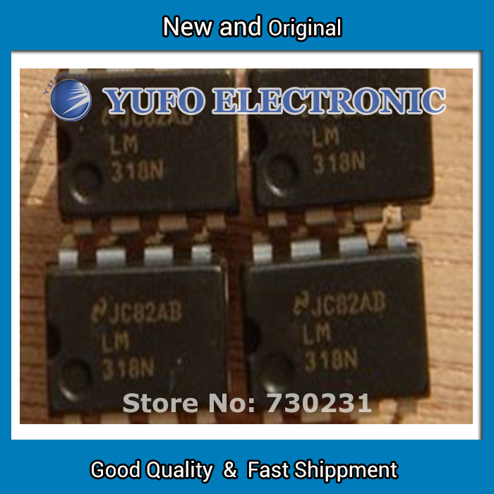 Free Shipping 20PCS High Speed Operational Amplifier LM318N DIP-8 Package National Semiconductor / NS brand chips (YF1202)(China (Mainland))