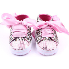 Toddler Baby  Girls Shoes Floral Leopard Sequin Infant Soft Sole First Walker Cotton Shoes(China (Mainland))