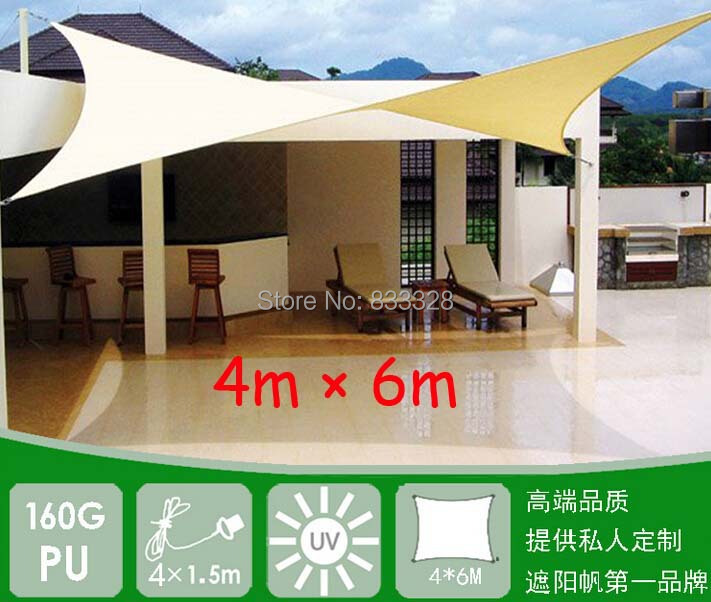 4m x 6m rectangle rectangle shade tarps cloth new rectangular uv waterproof rectangle sun shade. Black Bedroom Furniture Sets. Home Design Ideas