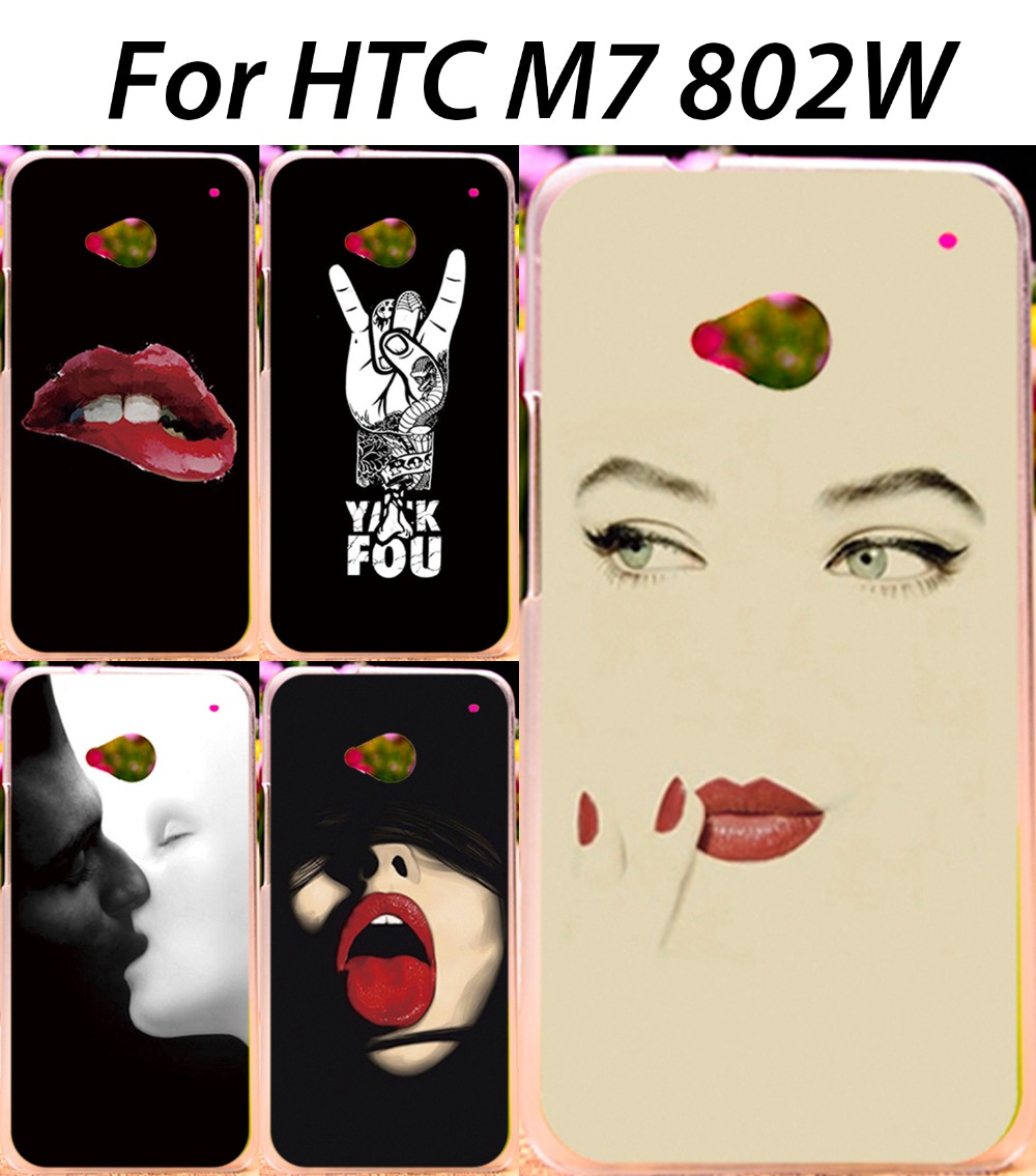 Mobile Phone Cases For HTC ONE M7 802W 802D 802T Dual Sim Back Cover Skin Shell Cool Cute Fashionable Stylish Painted Shield(China (Mainland))