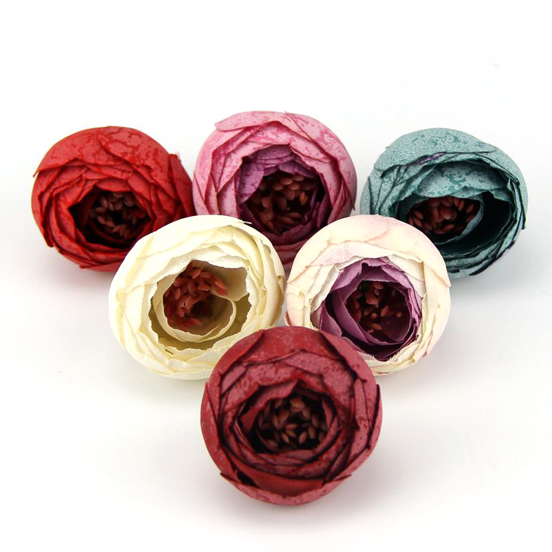 20pcs 4CM Can Be Mix Fresh and Artificial Flowers Small Tea Bud Simulation Small Tea Rose Silk Flower Decoration Flower Head DIY(China (Mainland))
