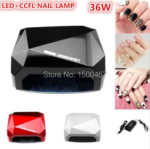 free shipping 36W LED CCFL nail curing lamp uv manicure nail dryer with EU US UK AU plug(China (Mainland))