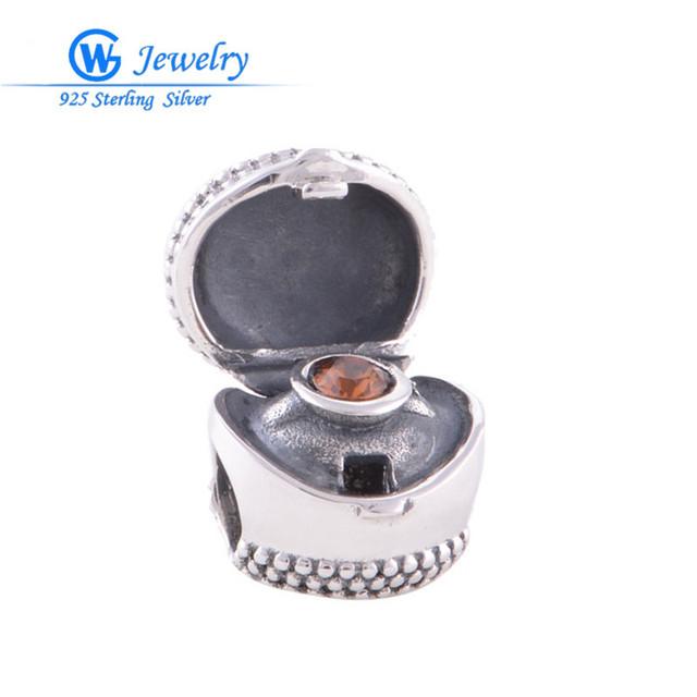 Оригинальные стерлингового серебра 925 рубин ювелирные изделия diy шарики шарма подходит ...