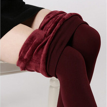 S-XL8 Colors Women's Warm Leggings Fashion High Elasticity And Good Quality Leggings Casual Thick Velvet Pants(China (Mainland))
