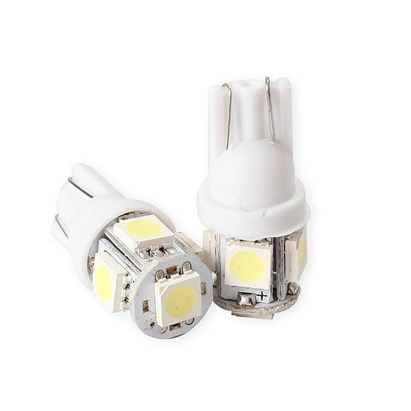 2PCS T10 5050 5SMD New LED White Light Car Side Wedge Tail Light Lamp Bright GUB#(China (Mainland))