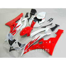 Buy ABS full fairing kit fit YAMAHA Injection molding YZF R6 2006 2007 red black white plastic fairings set YZF-R6 06 07 HY37 for $294.40 in AliExpress store