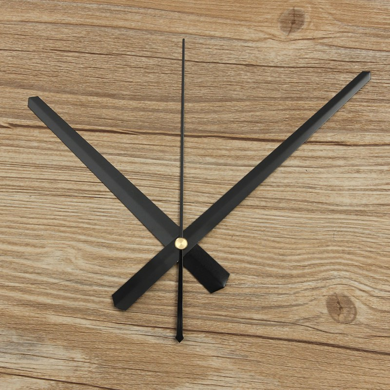 Hot Sale Home Hanging Wall Clock Accessories Hour Second Minute Hand Clock Pointer Simple Black White DIY Large Practical(China (Mainland))