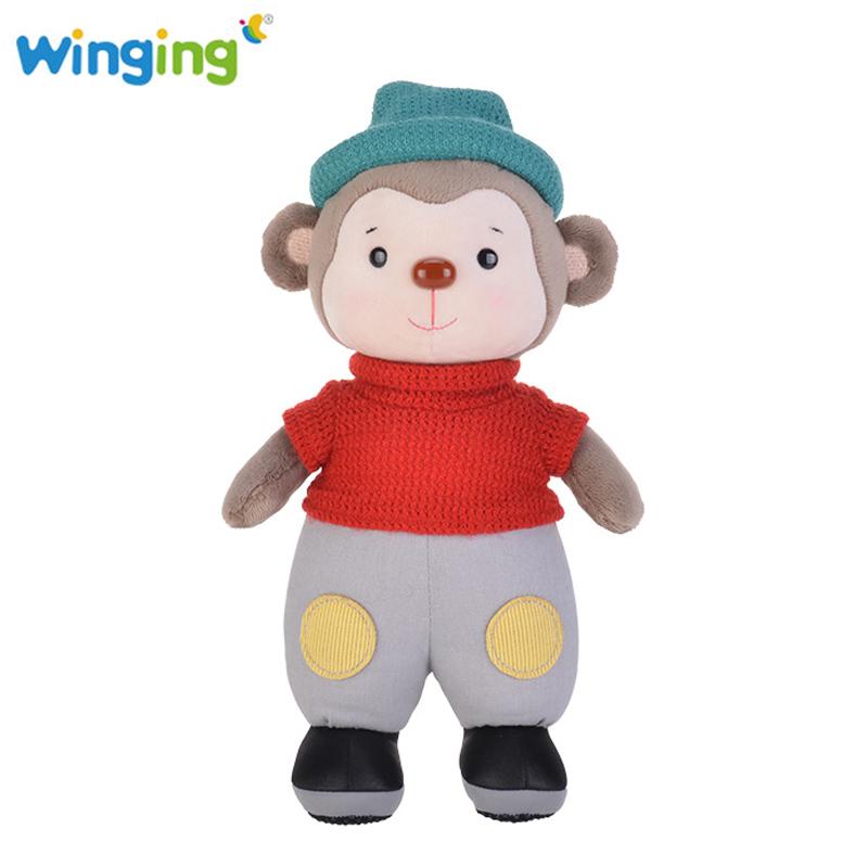 New Stuffed Animal Lovely Monkey Plush Toys Stuffed Monkey Soft Toys Monkey Plush for Kids Birthday Gift Baby Sleeping Calm Doll(China (Mainland))