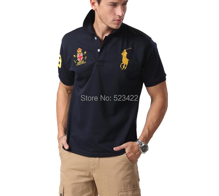 2014 fashion brand logo men shirts for mens casual t for Branded casual shirts for men